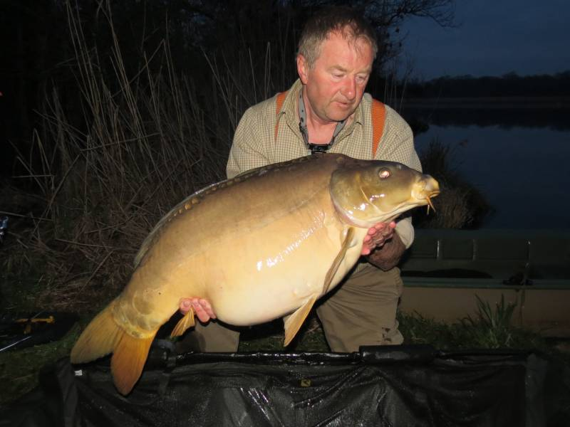 One of the carp I caught at 42 acre Castle Lake